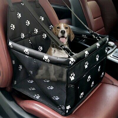 Collapsible Pet Dog Booster Car Seat Cat Car Carrier W/ Zipper Storage Pocket