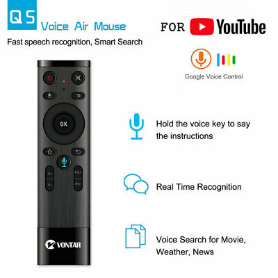 Voice Remote Control Air Mouse 2.4GHz Gyro Microphone Android TV Box T9 X96 mini