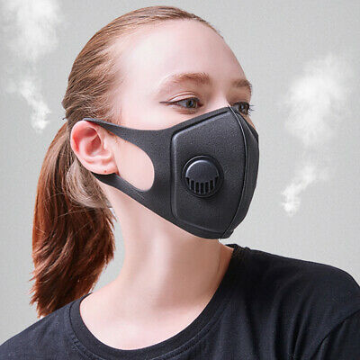 2X Breathable Adult PM2.5 Smoke Gas Protective Anti-dust Mask + 20X Filters NEW