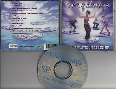 VENGABOYS The Platinum Album CD BREAKIN RECORDS HOLLAND EURODANCE