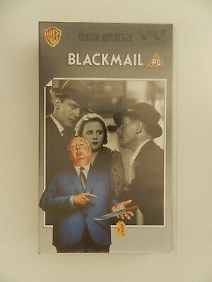 VHS Video Kassette Blackmail Hitchcock englisch
