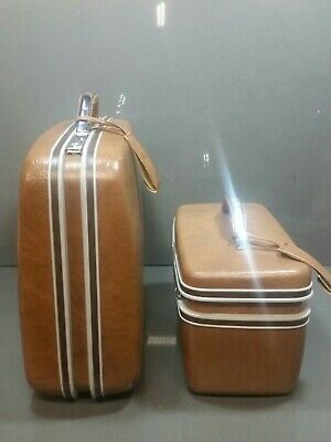 "Vintage 21"" & Makeup  Samsonite Silhouette  Hard Cases Train Suitcase Luggage"