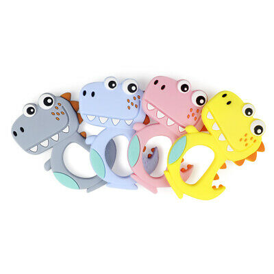 Baby Teether Chewable Silicone Soother Teething Nursing Toy Cartoon Dinosaur