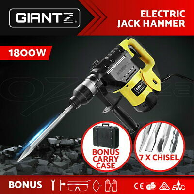 Giantz 1800W Jack Hammer Electric Jackhammer Demolition Rotary Concrete Drill
