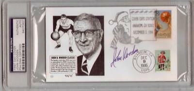 ~JOHN WOODEN (deceased) Signed LMTD. First Day Cover PURDUE, UCLA PSA/DNA~