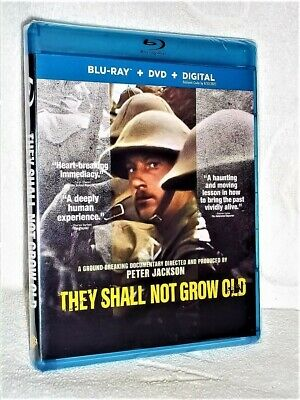 They Shall Not Grow Old (Blu-ray/DVD, 2019, 2-Disc) NEW military Peter Jackson