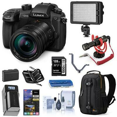 Panasonic Lumix DC-GH5 Mirrorless Body w/Leica DG 12-60mm F/2.8-4.0 W/ACC Bundle