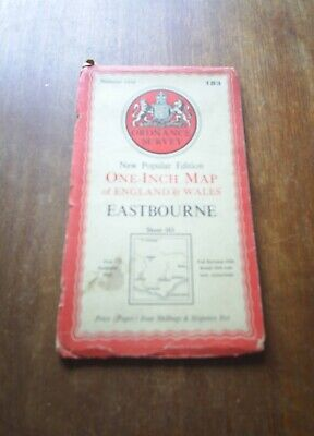 1959 Ordnance Survey One Inch Seventh Series Map 184 Hastings Paper