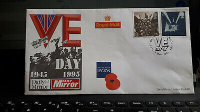 UNADDRESSED GB Stamps FDC 1995 Daily Mirror VE Day Commemorative First day Cover
