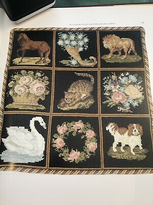 Elizabeth Bradley tapestry needlepoint chart patterns X 9 Small Easily Completed