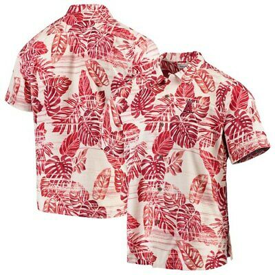 a5a884ea Los Angeles Angels Tommy Bahama Sport Super Fan Silk Camp Shirt - Red