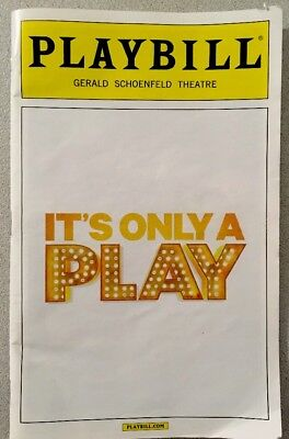 It's Only A Play Broadway Playbill-Opening Night Date,Nathan Lane,Megan Mullally