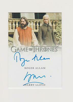 Roger Allen & Harry Lloyd 2019 Game of Thrones Inflections On Card Dual Auto