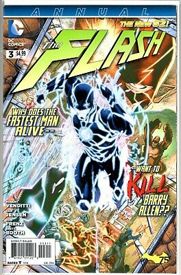 DC Comics New 52 THE FLASH ANNUAL #3 FIRST APPEARANCE OF NEW WALLY WEST