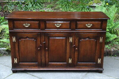 Titchmarsh And Goodwin Solid Oak Sideboard Dresser Base Cabinet Hall Lamp Table