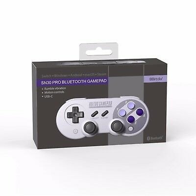 NEW!8Bitdo SN30 Pro Gamepad Controller for Nintendo Switch Windows macOS Android