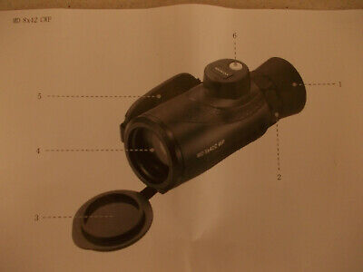 Mino monocular with compass, minimal use, made in Germany