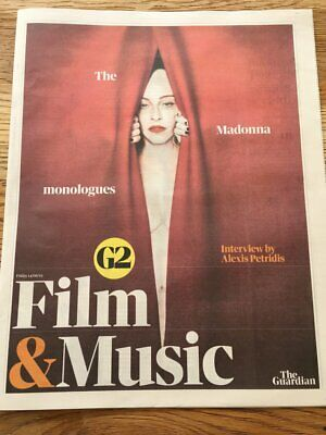 UK Madonna The Guardian Film & Music G2 Cover Clippings Promo Madame X
