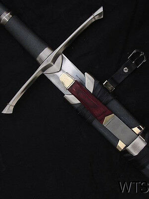 "50.4"" Lord of the Rings Strider Ranger Sword and Scabbard SHARP"