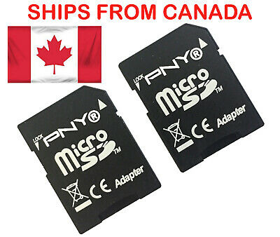 2PCS PNY Micro SD TO SD Memory Card Adapter Card Converter SDHC