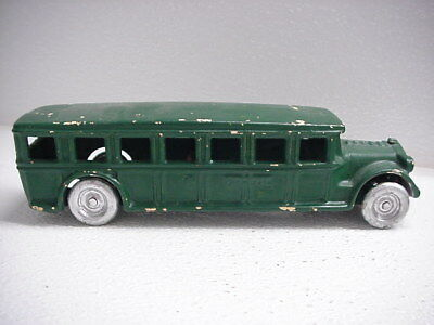 "Antique Arcade 1920s Cast Iron Fageol Bus 8"" Long, Repaint, Very good Casting NR"