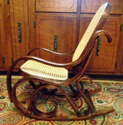 Vintage Bentwood Child Rocking Chair Austria Thonet style Rocker great condition