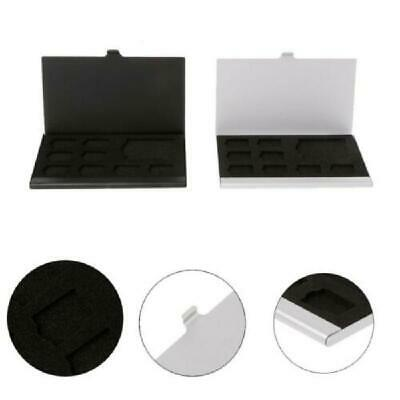 Monolayer Aluminum Alloy SD/SIM Card Holder Protector Storage Case Box d