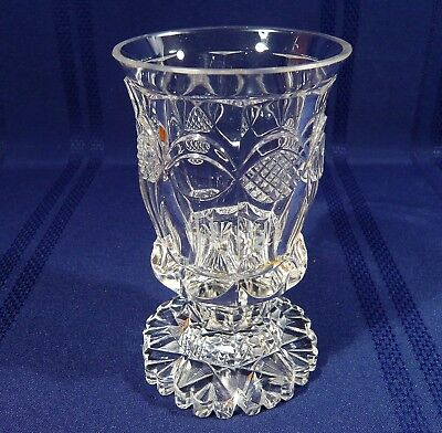 Antique Anglo-Irish Glass Goblet Rummer