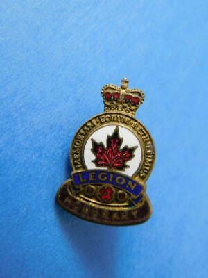 Royal Canadian Legion Honorary Member Vintage Screw Back Pin Button Collector