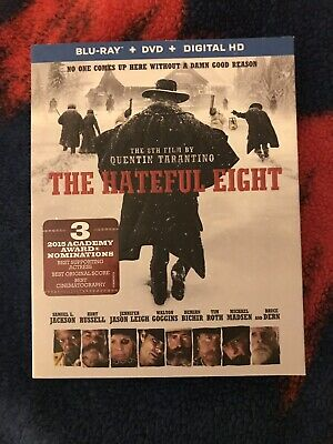 The Hateful Eight (Blu-ray + DVD, 2016, 2-Disc Set) + OOP Gatefold Slipcover