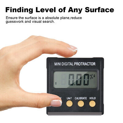 Cube Inclinometer Level Angle Gauge Meter Digital Protractor Electronic BI1306