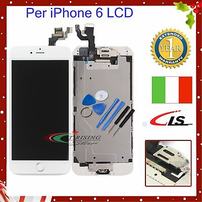 LCD Screen PER IPhone 6 6G Touch DISPLAY COMPLETO Fotocamera Altoparlante BIANCO