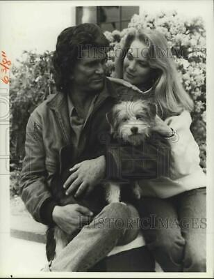 """1987 Press Photo Michael Landon and Leann Hunley in """"Highway to Heaven"""""""