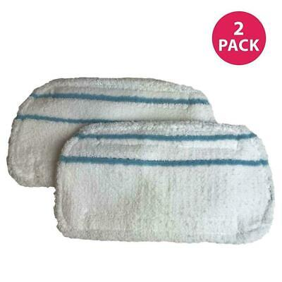 Crucial Vacuum Washable and Reusable 2-Pack Micro Fiber Steam Mop Pads...