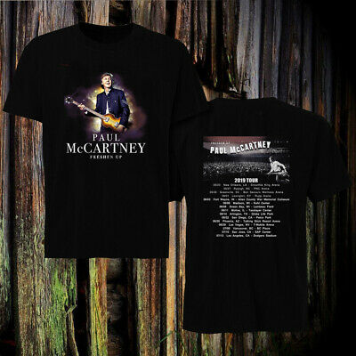 Paul McCartney 2019 Freshen Up Tour DATES BLACK t-shirt
