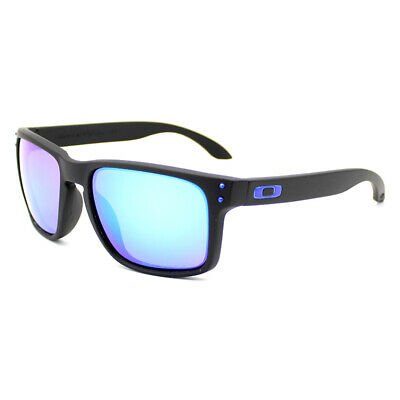 Fashion Sports Oakley Holbrook Polarized Sunglasses Matt Black Frame Blue Lens