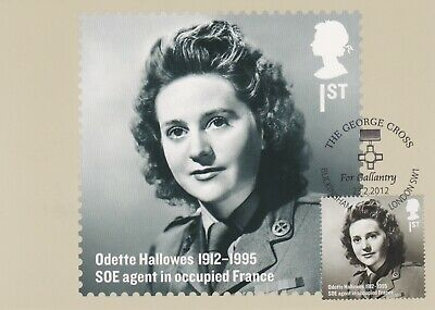 Gb Stamps Gpo Official Phq Maxi Card First Day Cover Odette Hallowes Hero