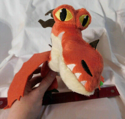 "13"" L Hookfang Orange Red Dragon Plush How Train 3 Hidden World Spin Master NEW"