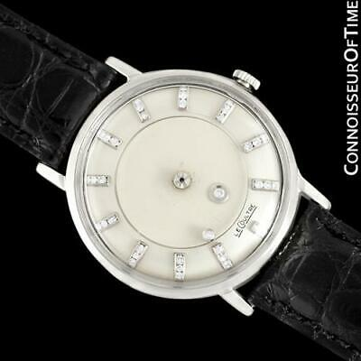 1958 Jaeger-LeCoultre Galaxy Diamond Mystery Dial, 14K White Gold - Mint