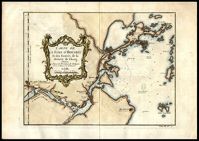 Map of China & Lower Yangtze River 1750 Copper Engraved Hand-Colored Chang River