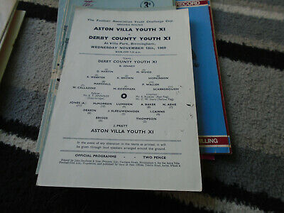 Aston Villa V Derby County 1959-60 F A Youth Cup 2Nd Round