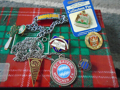 Collection Of 9 Badges 3 Are Football The Rest Assorted