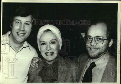 1983 Press Photo Actress Eve Arden at Moose Murders Press Conference - hcp37602