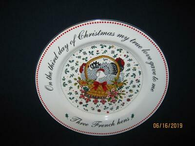 American Atelier-12 Days Of Christmas Plate-Third Day Plate