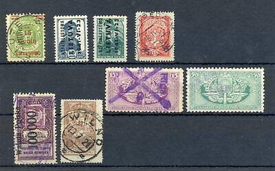 Lithuania 8 Stamps Including Revenues--Most */0 --F/Vf
