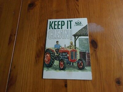 KEEP IT CLEAN - Maintenance booklet by C. A. V. SERVICE - 1950s? - Excellent!