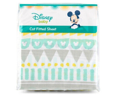 Disney Baby Cot Geo Mickey Fitted Sheet - Multi