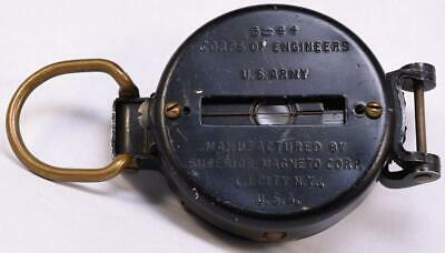 1944 WWII US Army Corps of Engineers Lensatic Field Compass Superior Magneto