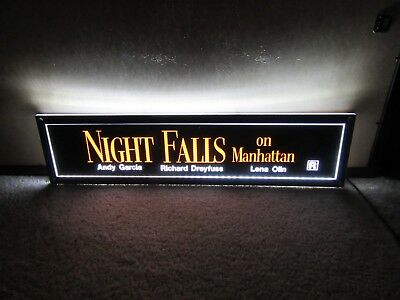 *** NIGHT FALLS on MANHATTAN [1997] *** D/S 5x25 [LARGE] MOVIE POSTER [MYLAR]