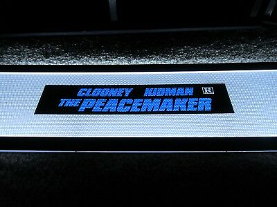 *** THE PEACEMAKER [1997] *** D/S 2.5 x 11.5 [SMALL] MOVIE THEATER POSTER MYLAR